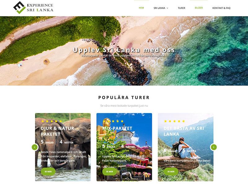 Experience Sri Lanka project by digitecz.com
