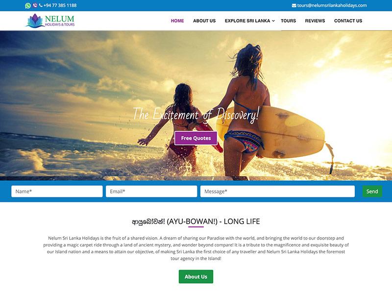 Nelum holidays and Tours project by digitecz.com