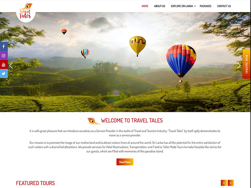 Travel Tales project by digitecz.com